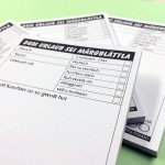 Dem Urlaub sei Märgblättla - Bamberger Mundart zum Block geleimt