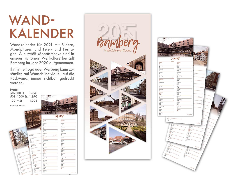 Bamberg Kalender 2021 mit wunderschönen Motiven aus dem Weltkulturerbe